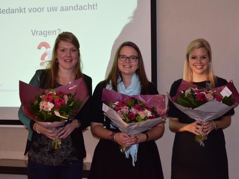 Van links naar rechts: Maaike Dijkhof, Caroline Bijnens, Pommeline De Bruycker