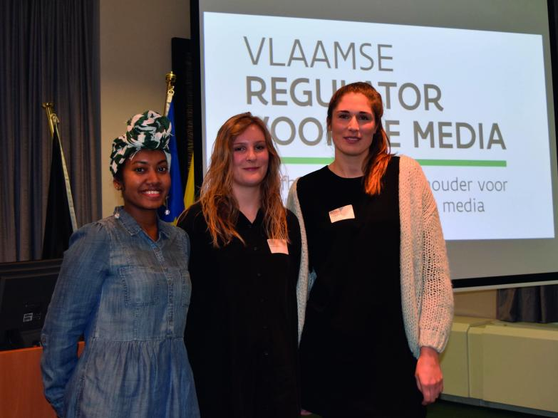 Laureaten Thesisprijs (v.l.n.r.: Anouk Torbeyns, Iris Wyckmans, Zoë De Ruyck)