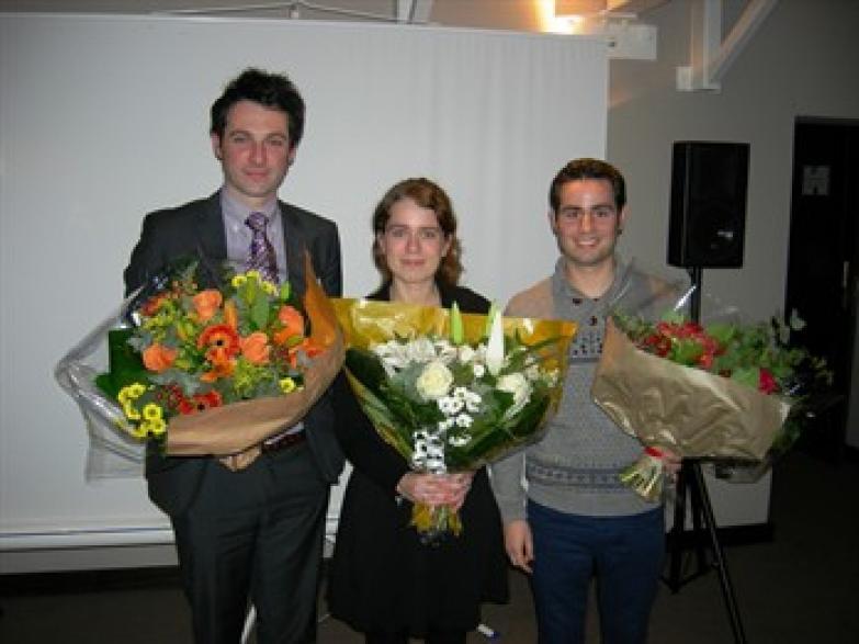 Van links naar rechts: Pieter De Grauwe - Natalie Van Hemelen - Bert De Bock